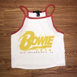 Forever 21 Tops - David Bowie Crop Top